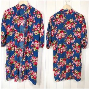 Other - ! Floral Robe Short Sleeve Womens One Size